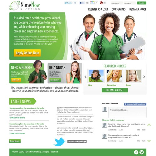 Nurse Staffing Site