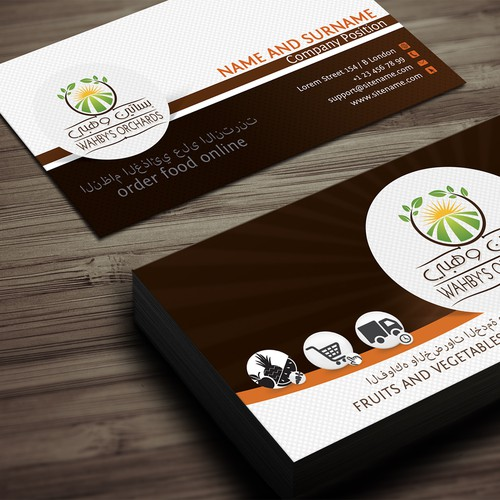 Need Creative Stationery for WAHBY'S ORCHARDS