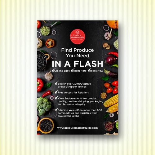 Design an edgy print ad series for an exploding produce platform