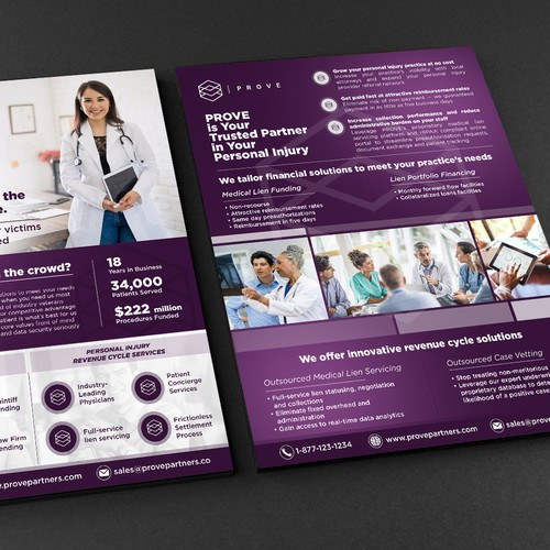 PROVE Partners - B2B 2-Page Brochure for Digital and Physical Marketing