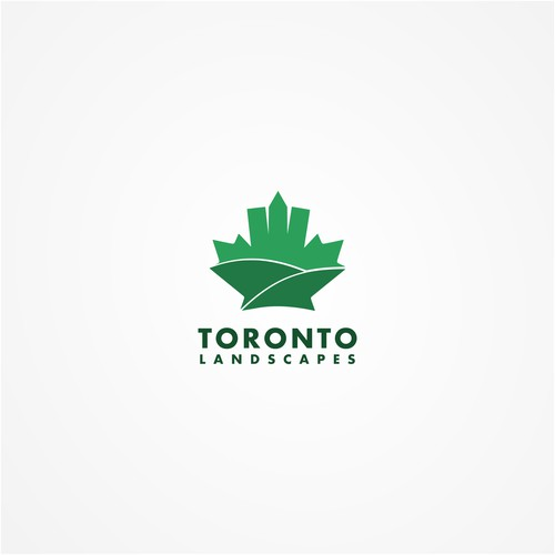 Maple leaf + Toroto skyline