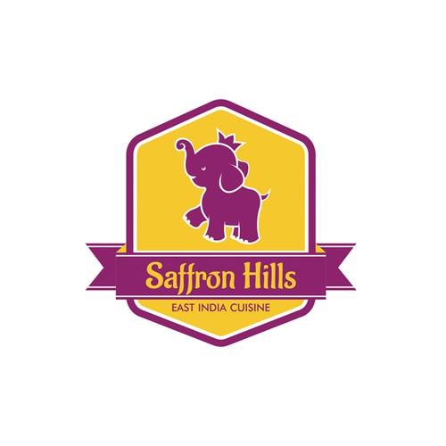 Create a mass market appealing logo for Saffron Hills