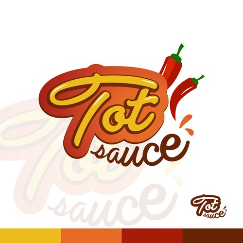Spicy logo concept for Tot Sauce