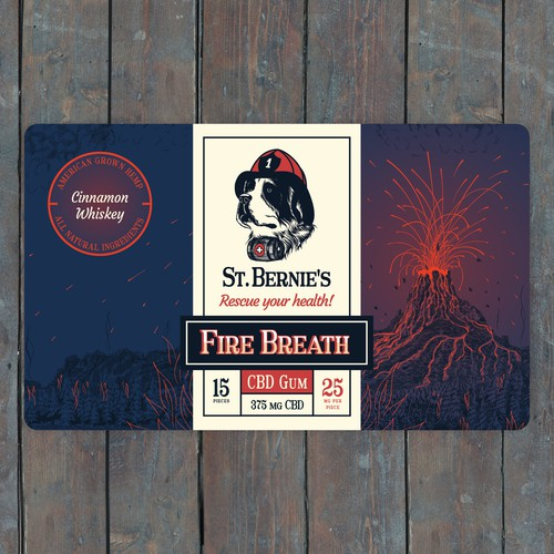 Fire Breath CBD Gum Label