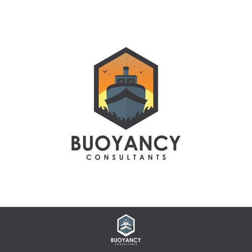 boat logo consulting design