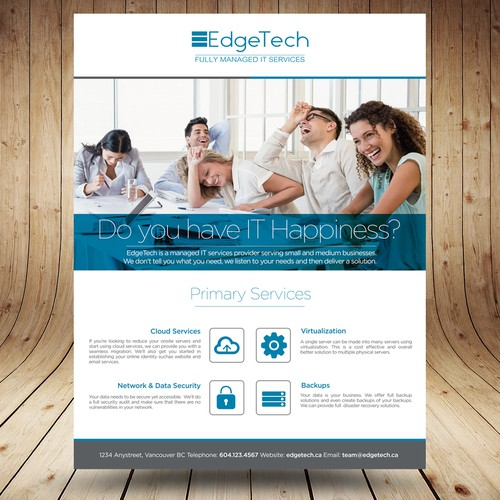 Create an amazing flyer for IT Services.