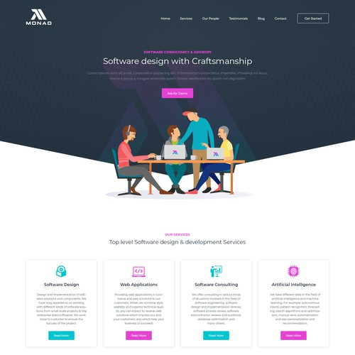 Website design for Monad