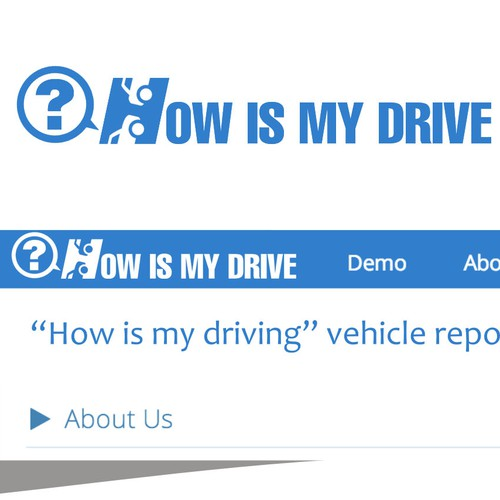 """How is my driving?"" - Simple logo that fits well in an existing website template"