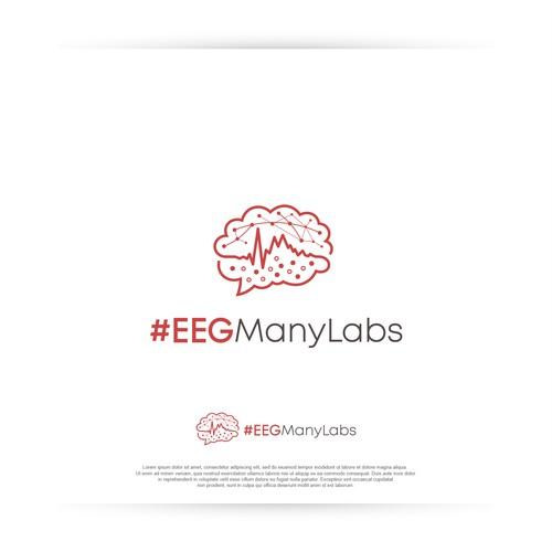 Creative logo for #EEGManyLabs global Network