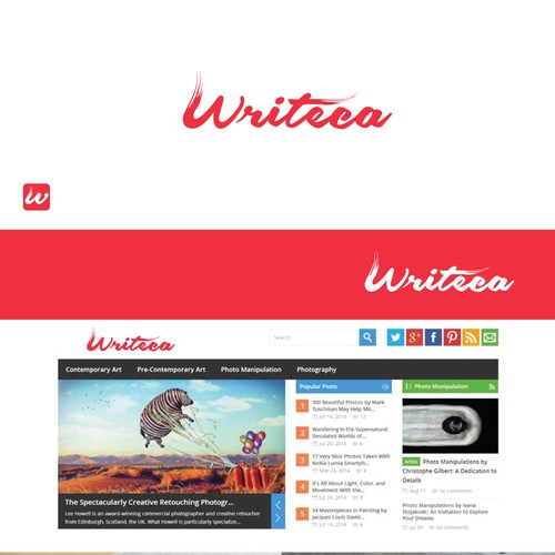 Create a kick-ass logo and business card for Writeca