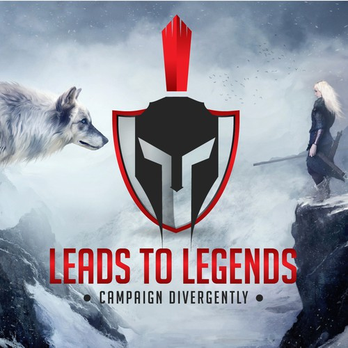 "Epic logo ""Leads of Legends"""