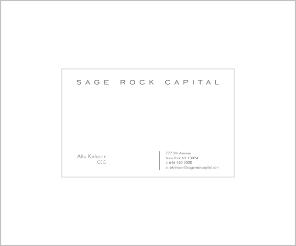 New logo and business card wanted for Sage Rock Capital