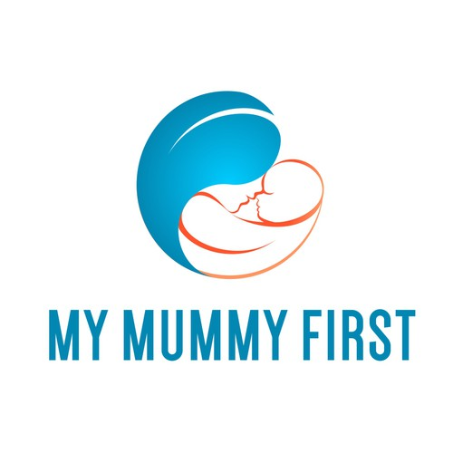Bold logo design for fitness program focused on mothers