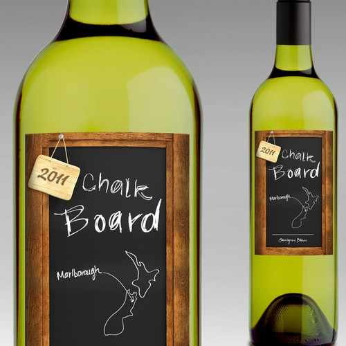 wine label - Chalk Board