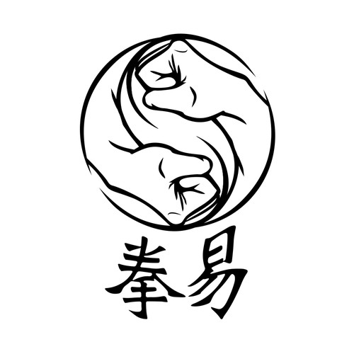 Boxing club with kung fu spirit logo
