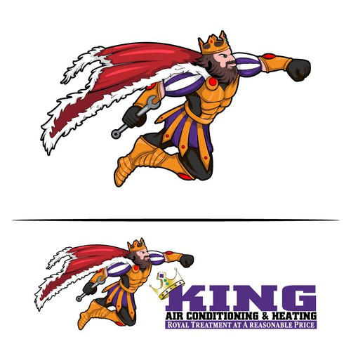 King mascot for air conditioning & heating