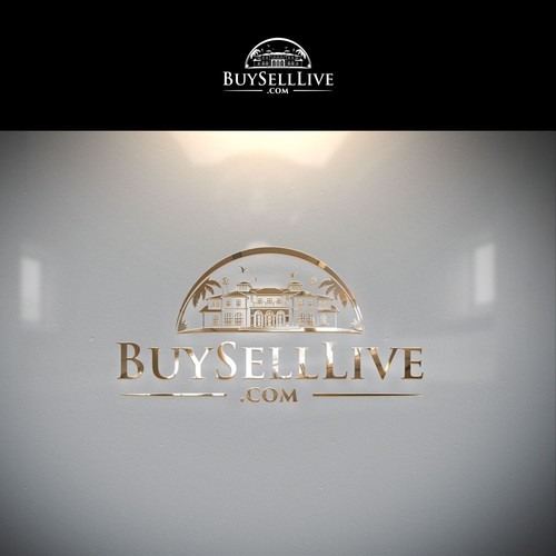 """Luxurious logo capturing the essence of """"BuySellLive.com"""""""