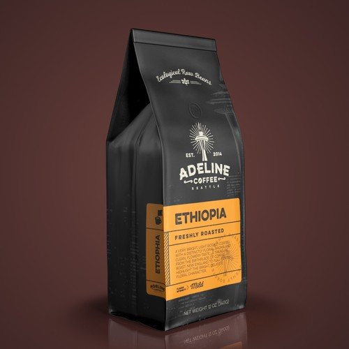 Packaging for Adeline Coffee