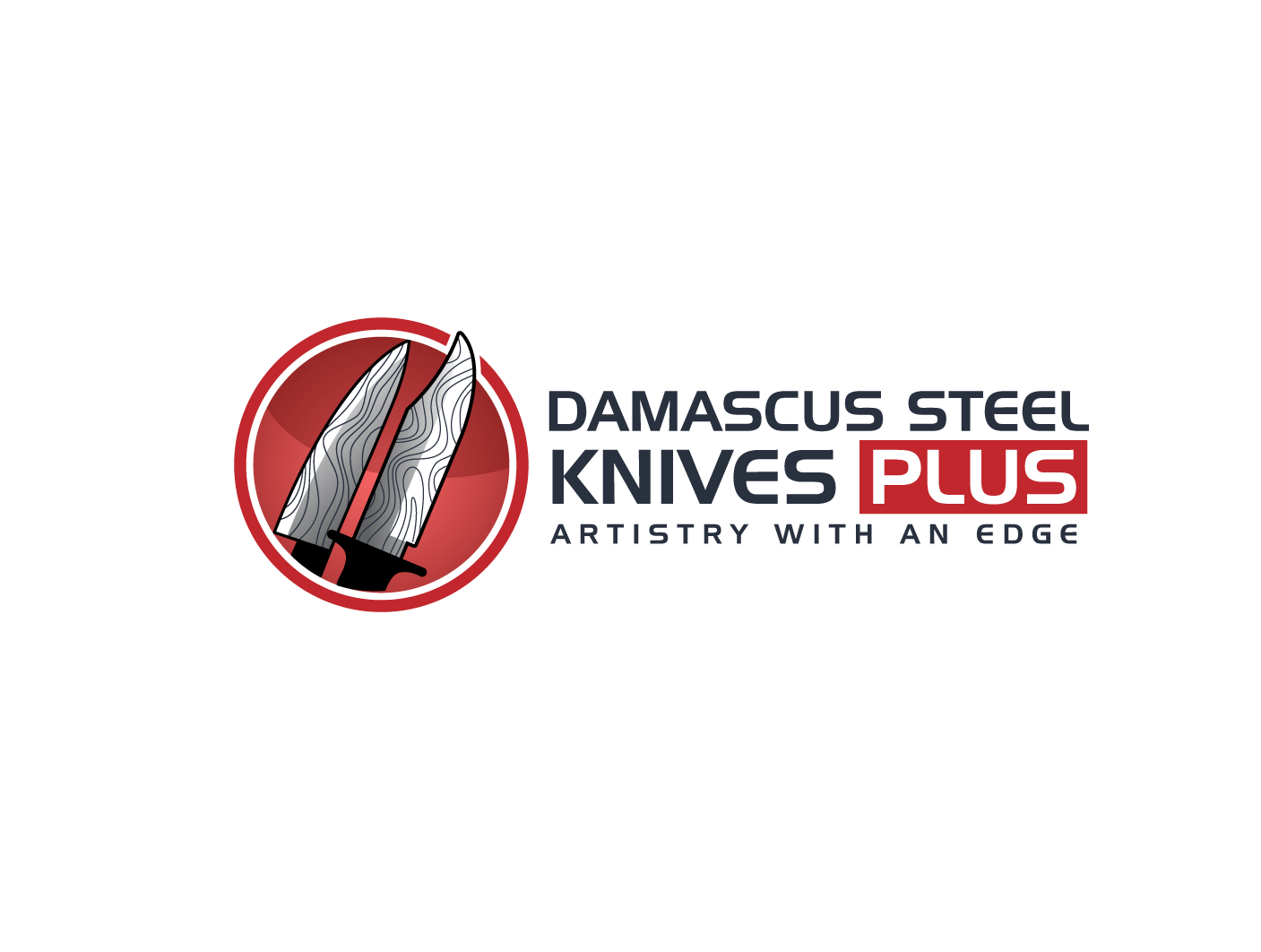 Create a winning logo design for online ecommerce site Damascus Steel Knives PLUS