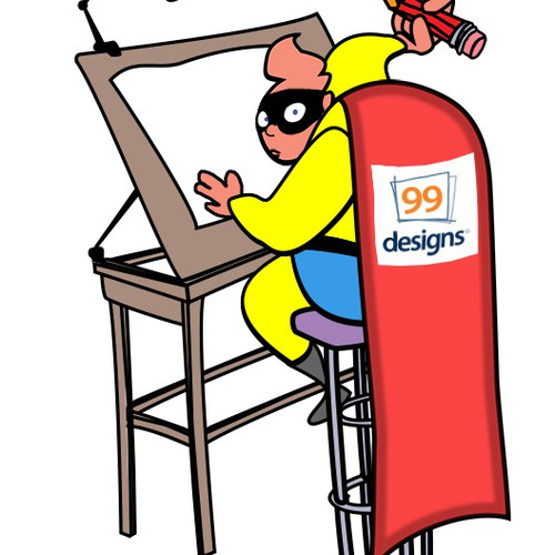 99designs needs a new t-shirt design, with SUPER HUMAN POWERS !!