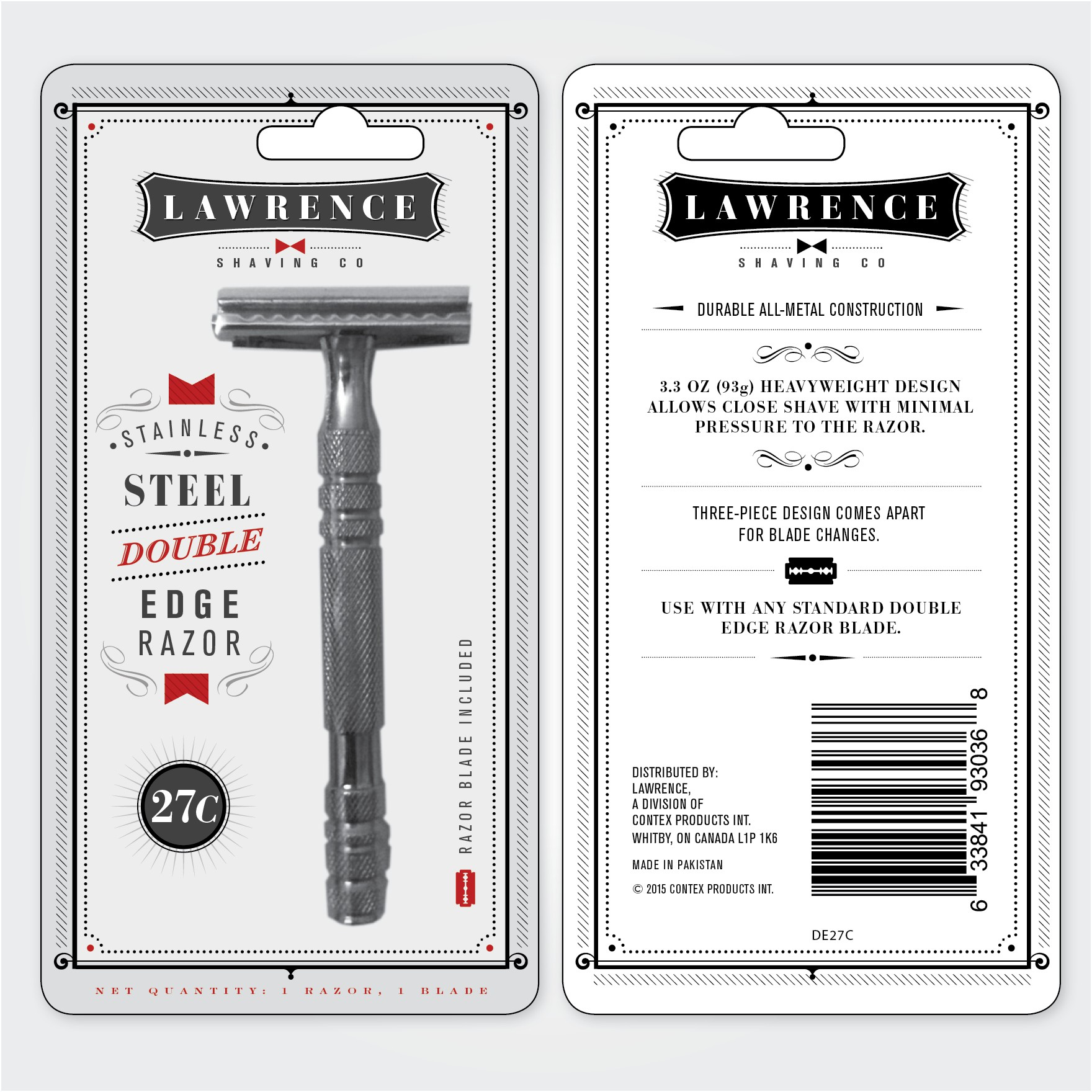 Create a Blister Card Design for Lawrence 27C Razor