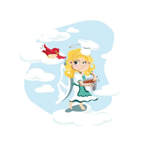 Proud angel illustration