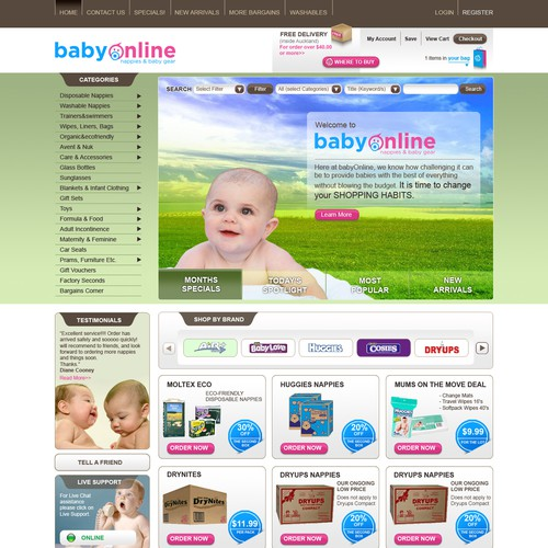 ++ WEBSITE TEMPLATE for selling baby products!