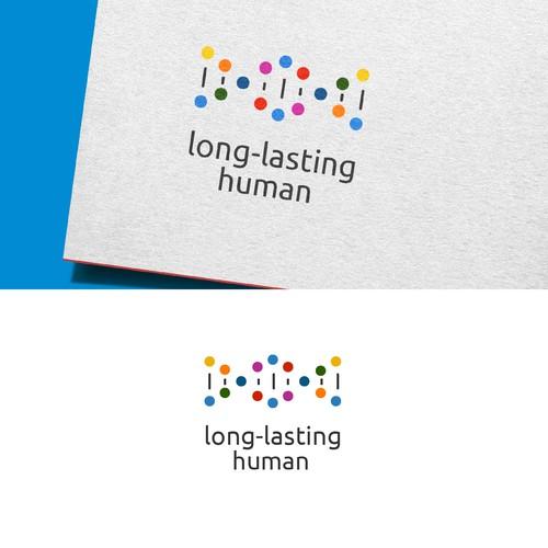Long-Lasting Human logo design