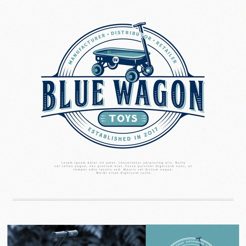 Logo for Blue Wagon Toys