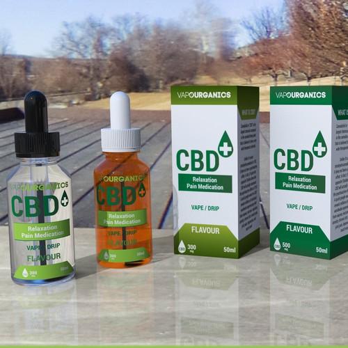 CBD liquid package design contest entry