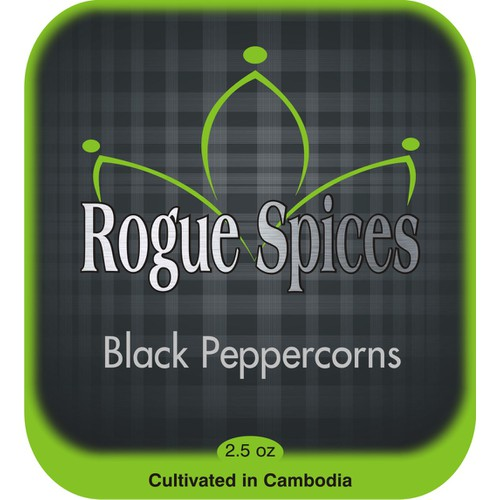 Rogue Spices needs a new product label