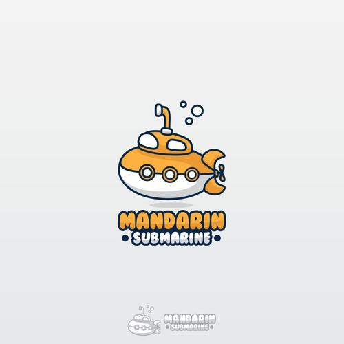 cartoon submarine logo for mandarin submarine
