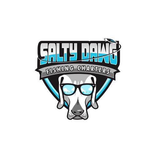salty dawg fishing logo