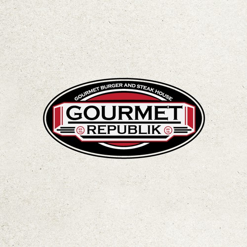 Gourmet burger and steak house logo