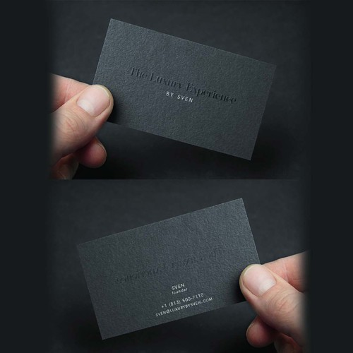 business card design for the luxury experience by sven