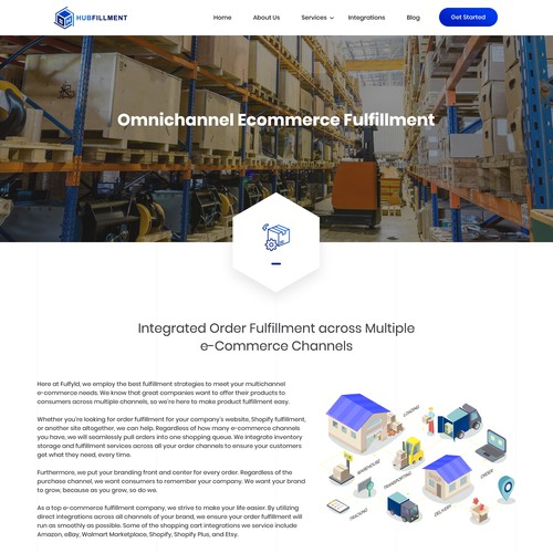 Full Website Design for 3PL E-commerce Fulfillment Company