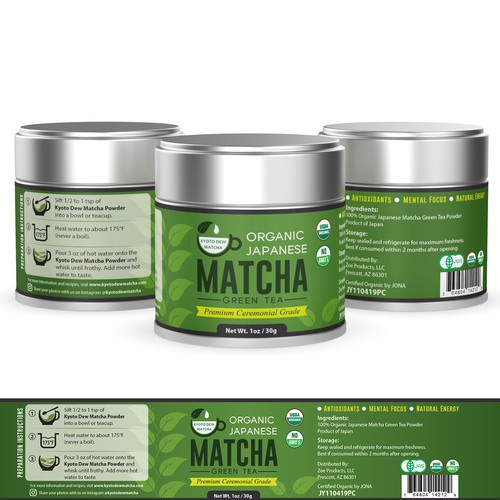 Natural and organic design for Kyoto Dew Matcha