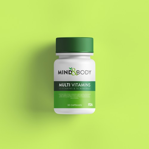 Example for Supplement Label Design