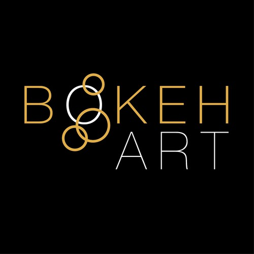 Stylish logo concept for BOKEH ART