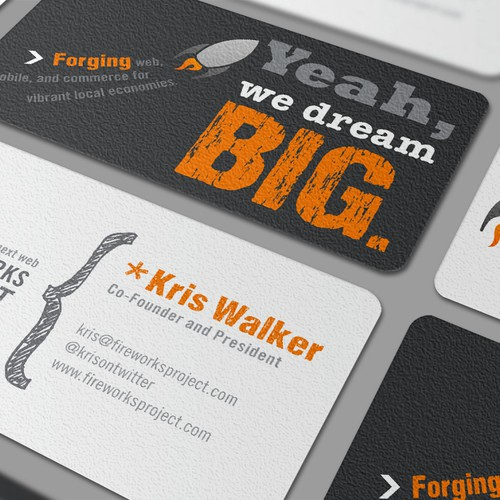Love Typography? We need a biz card design: