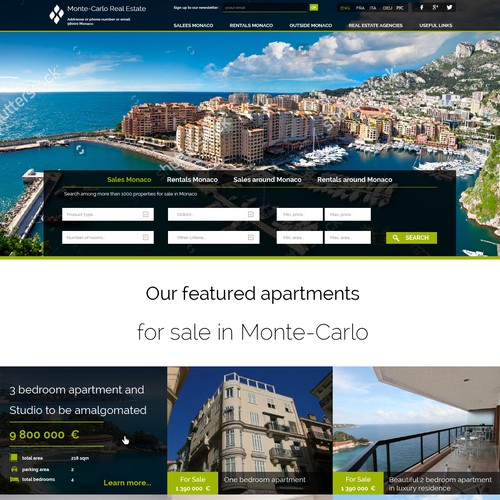 Monte-Carlo Real Estate Portal/Website