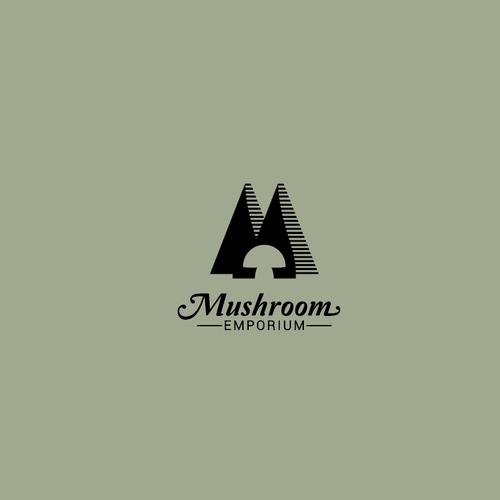 Logo for an online mushroom emporium.