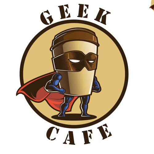 logo for geek cafe