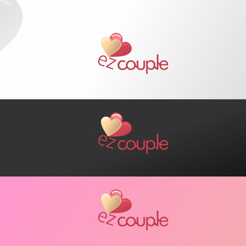 clean logo for a messaging website for couples