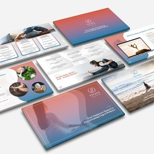 modern wellness and yoga platform presentation