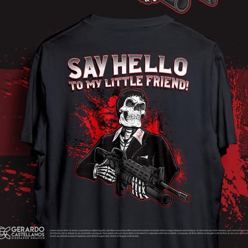 Tony Montana Skull T-shirt