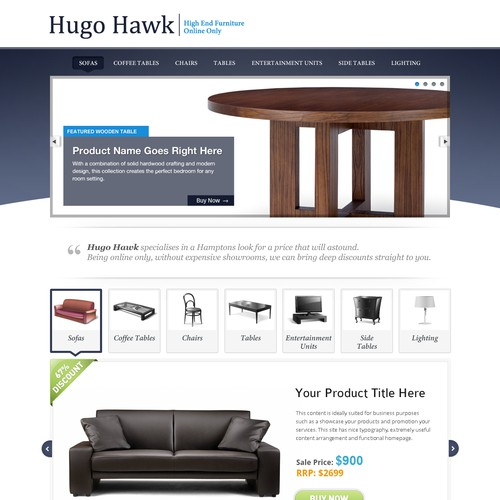 Hugo Hawk - High End Furniture