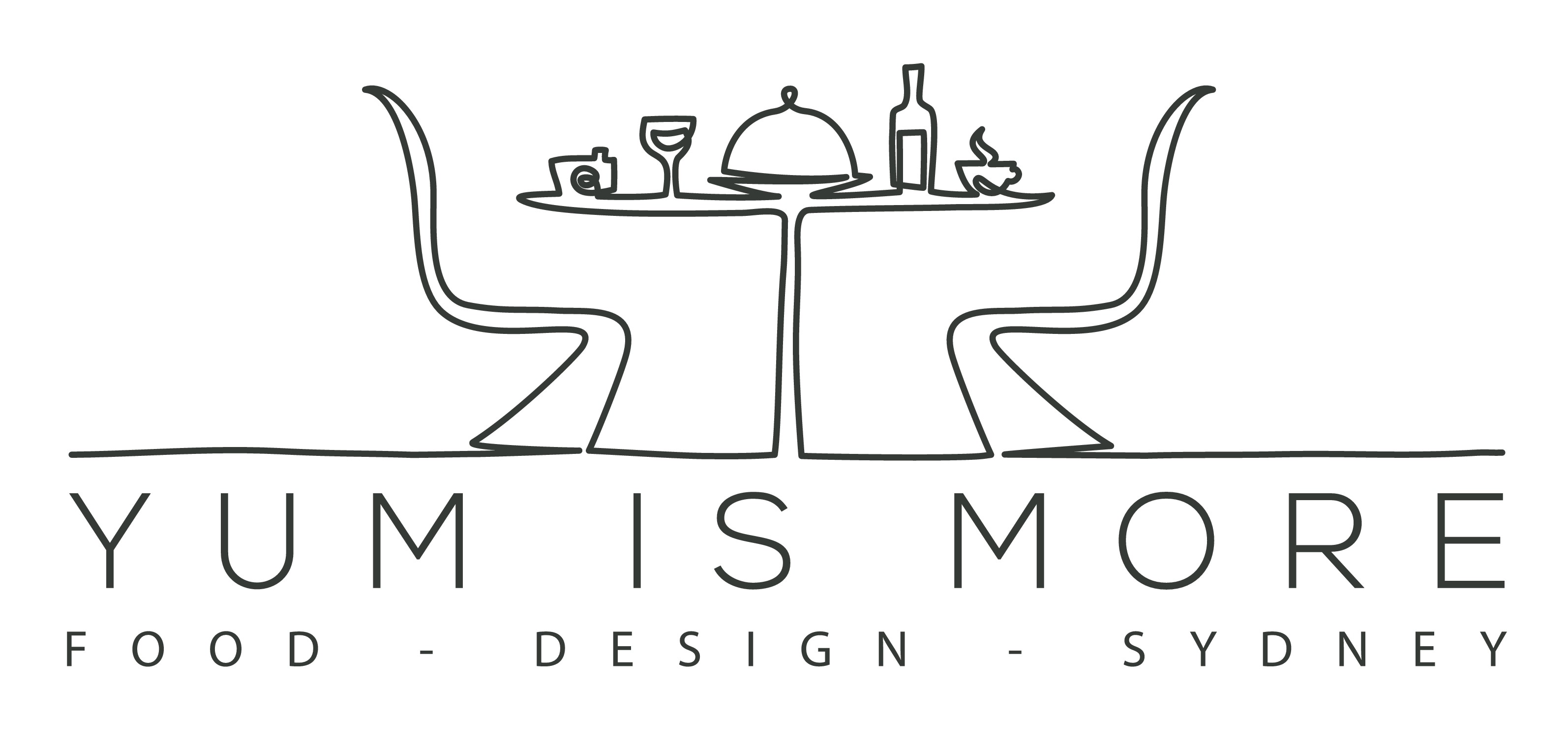 Create a logo for a FOOD & DESIGN blog YUM IS MORE