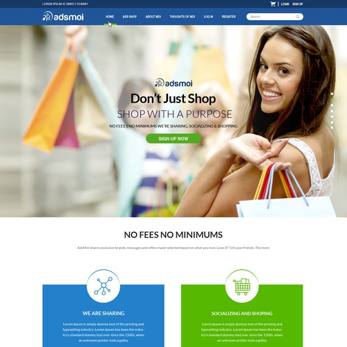 Web Design Concept For Adsmoi