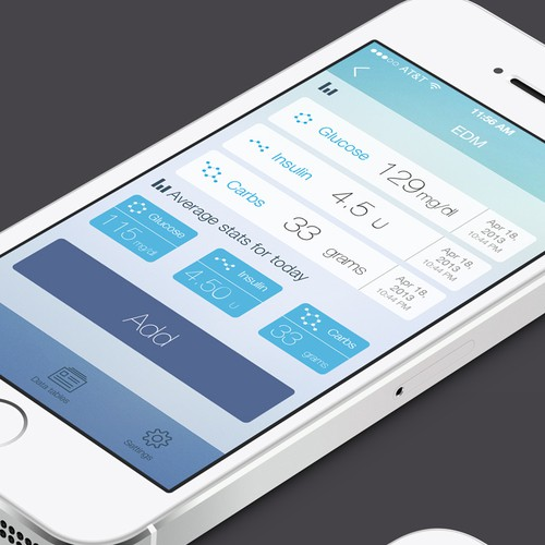 Design for diabetes management app